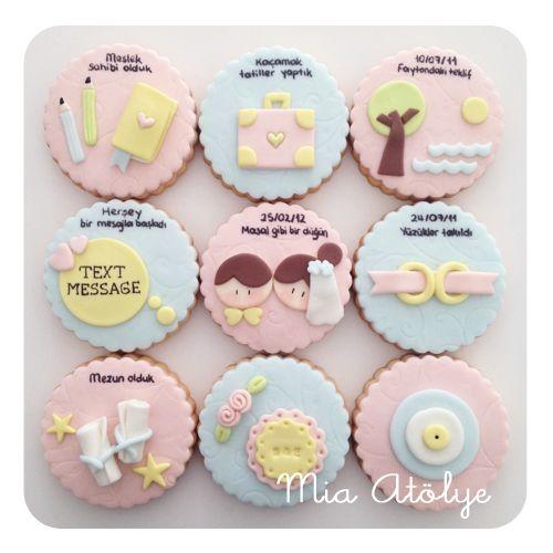 Yıldönümü kurabiyeleri | Mia Atölye