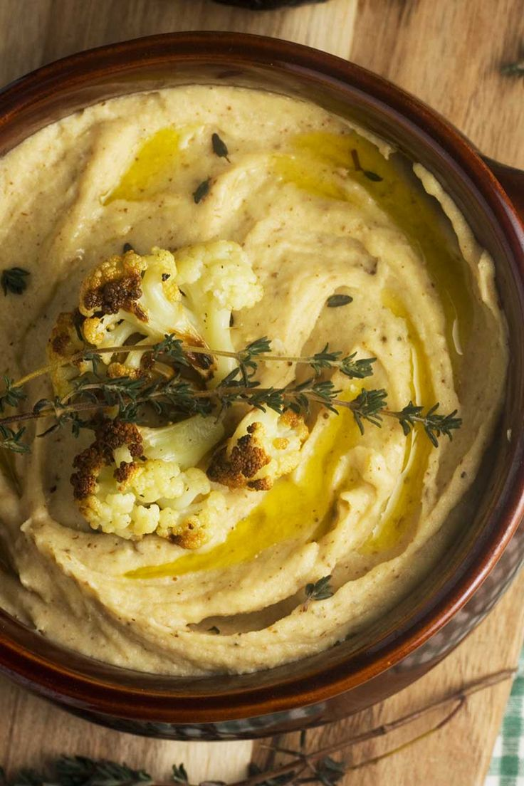 Are these the best mashed potatoes ever? They combine roasted cauliflower with potato and cheese. Delicious!
