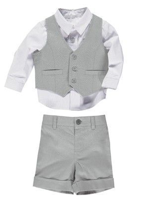 PRODUCT- We would sell this as a smart wedding guest wear or either a page boy's outfit  PLACE- get items like this from Littlewood's, Next, mainly high end highstreet stores.