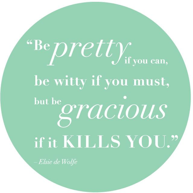 The rules of being a lady. Clever Thursday | Be Gracious