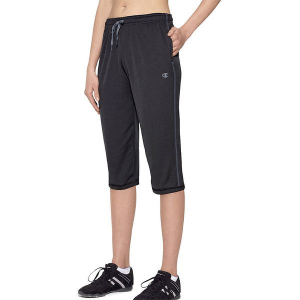 Champion Vapor PowerTrain Women's Knee Pants ($22) ❤ liked on Polyvore featuring activewear, activewear pants, champion sportswear and champion activewear