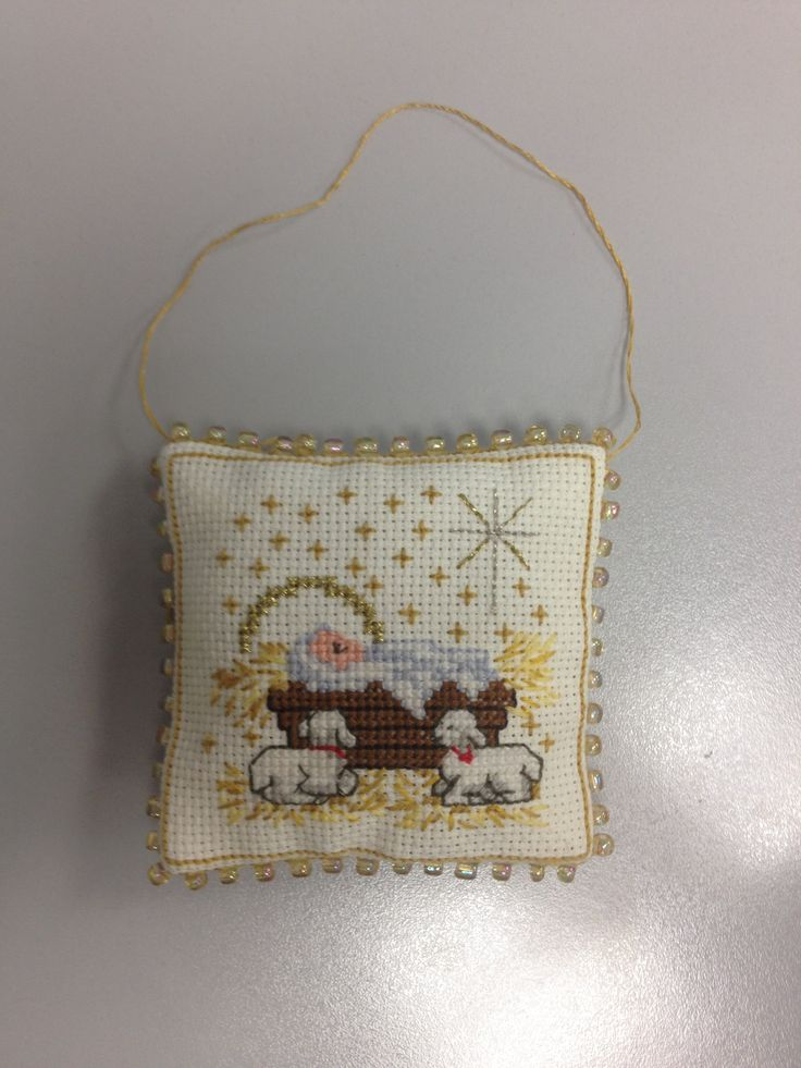 Cross Stitch Nativity Ornament