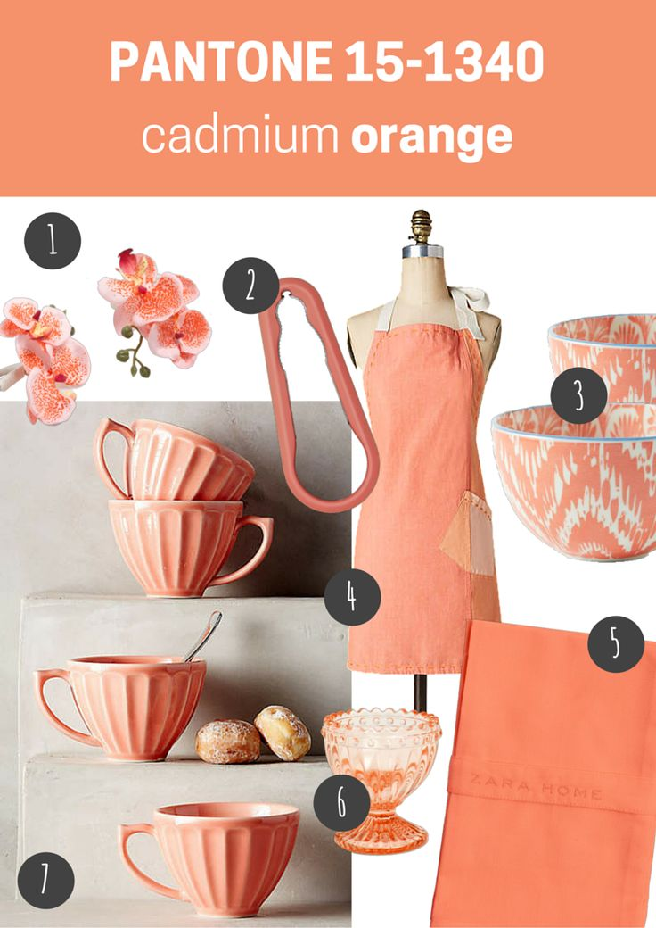 Pantone 15 1340 Cadmium Orange Kuchnia Kitchen Blog