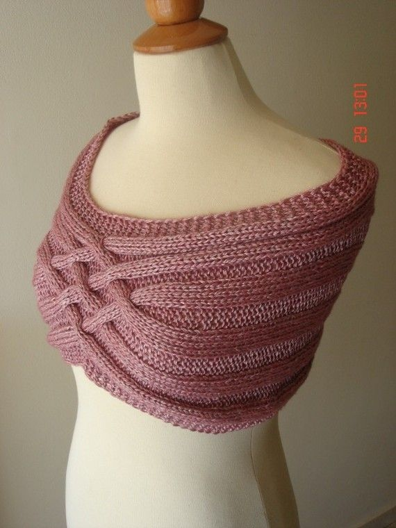 Items similar to Elegant capelet/ Shoulder Warmer - Made to order only -  Any Colour Any Yarn on Etsy