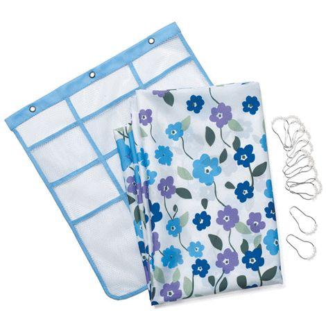 Floral Garden 14-Piece Shower Curtain - includes 12 hooks! To shop with me online, click here: http://www.interavon.ca/elisabetta.marrachiodo elizabeth.marra-chiodo@rogers.com 416-669-9217