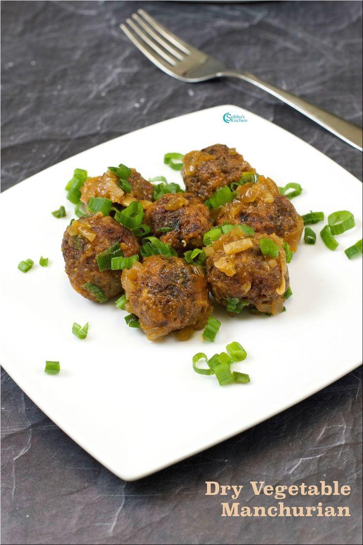 Vegetable Manchurian   Dry Veg Manchurian Recipe