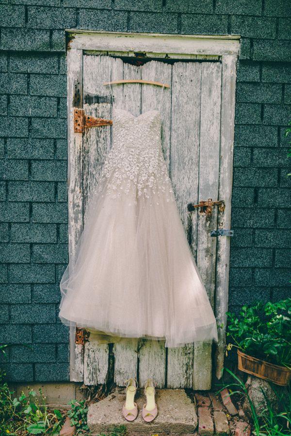 Liancarlo wedding gown // photo by Golden Hour Studios // http://ruffledblog.com/new-york-farm-wedding