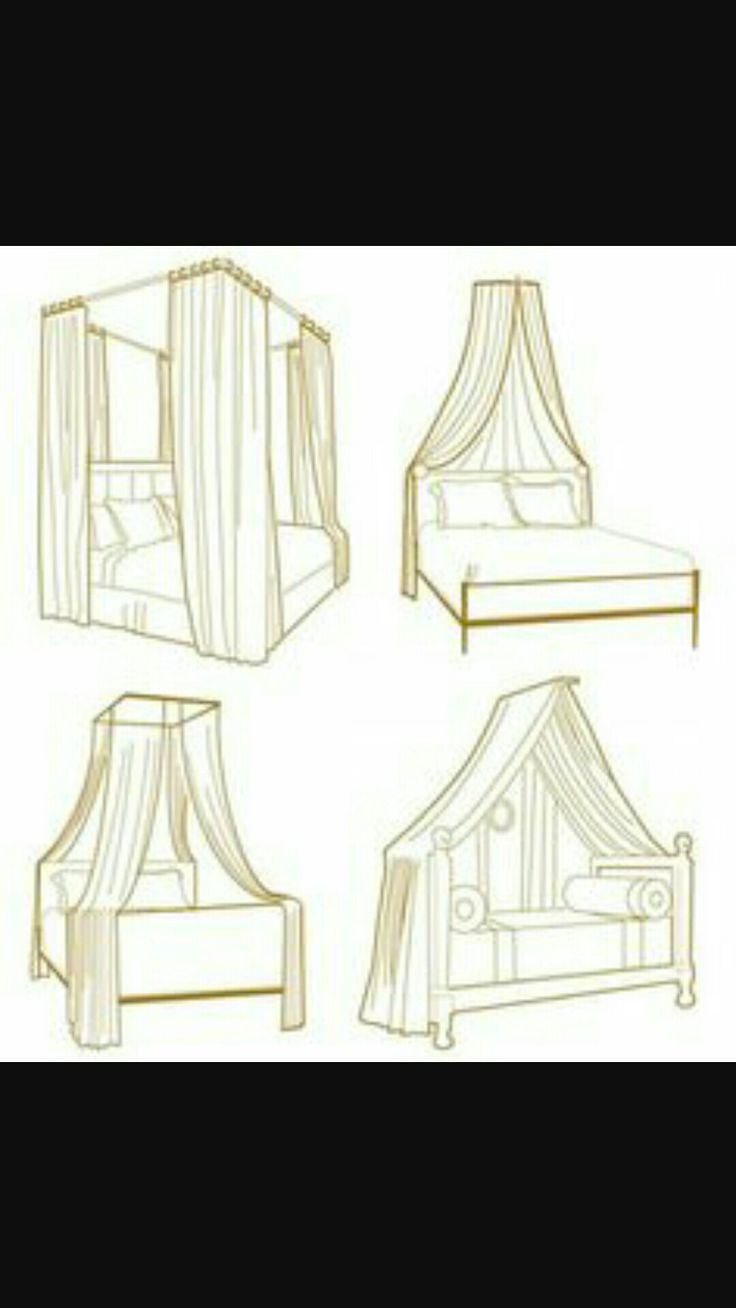 17 best canopy bed drapes images on Pinterest | 3/4 beds, Canopies ...
