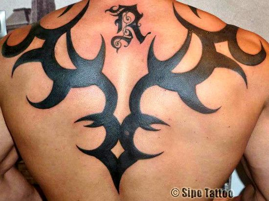 Tribal Tattoo for Men on Full Back