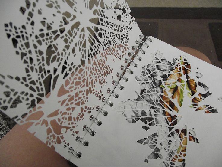 Robyn Parker : Some cut work i've begun in my new sketchbook :)