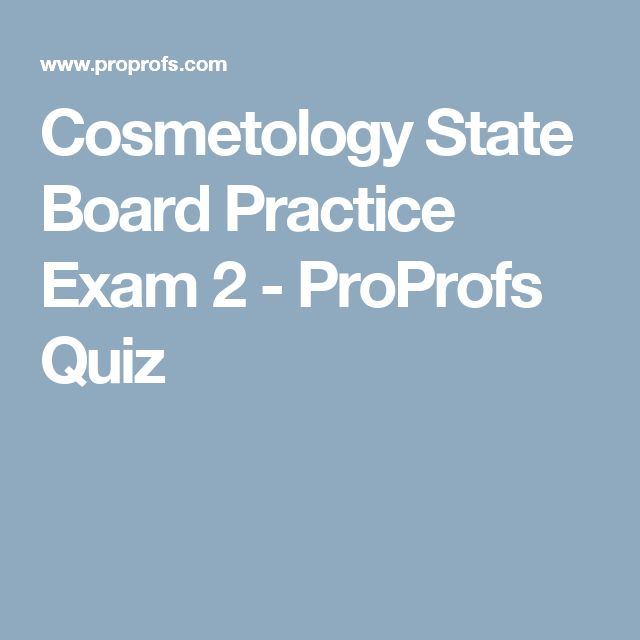 Best 25 cosmetology practice test ideas on pinterest 100 question exam of questions that may be on the state board exam for master cosmetology it is timed at 90 minutes just like the state board exam fandeluxe Choice Image