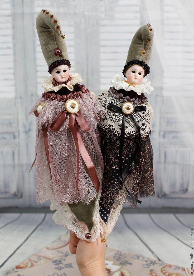 Купить Marotte - черный, marotte, маротте, антикварная головка, антикварная голова, антикварная кукла, винтаж