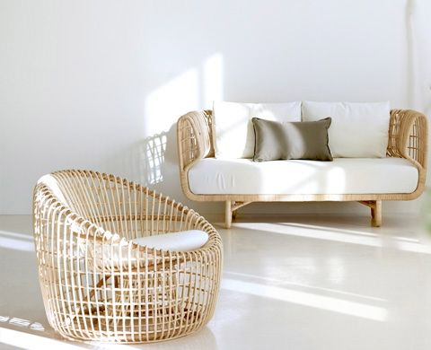 Rattan sofa & chair @Candace Young-line #thingsmatter