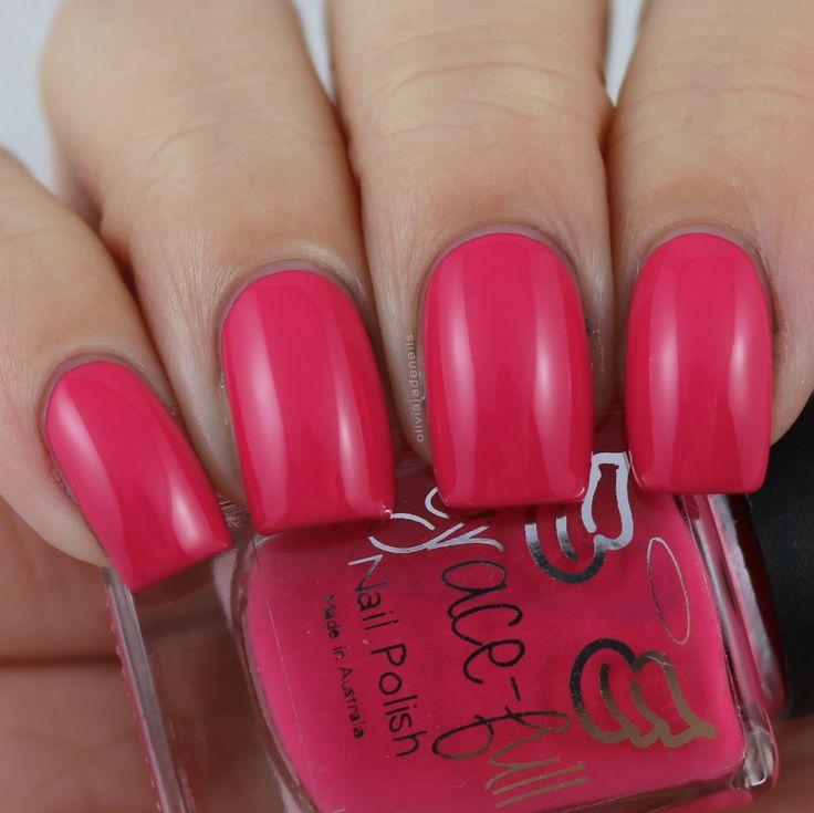 Grace-full Nail Polish Strawberry swatched by Olivia Jade Nails