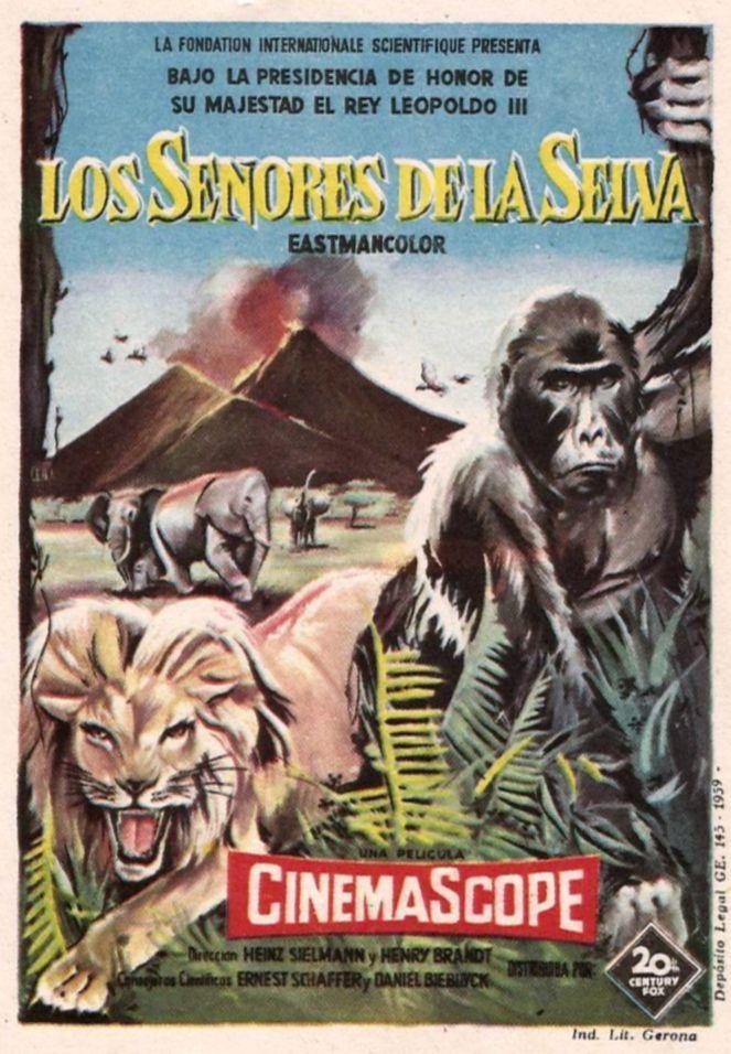"""Los señores de la selva (1958) """"Les seigneurs de la forêt"""" de Henry Brandt, Heinz Sielmann - tt0053053"""