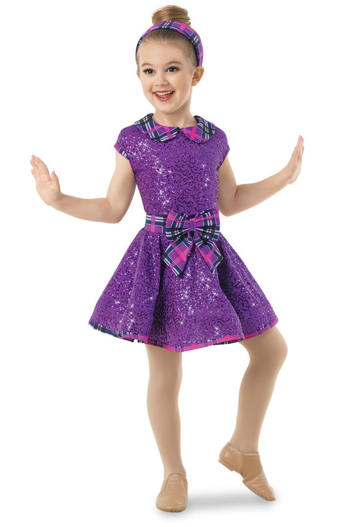Weissman® | Plaid Sequin Dress w/ Peter Pan Collar