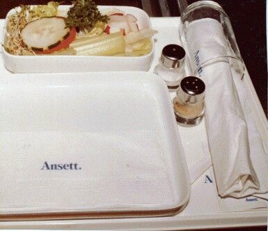 Ansett Australia Meal Tray