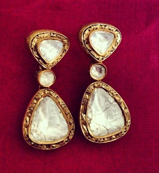 #polki stunners #earrings by Umrao Jewellers via Instagram