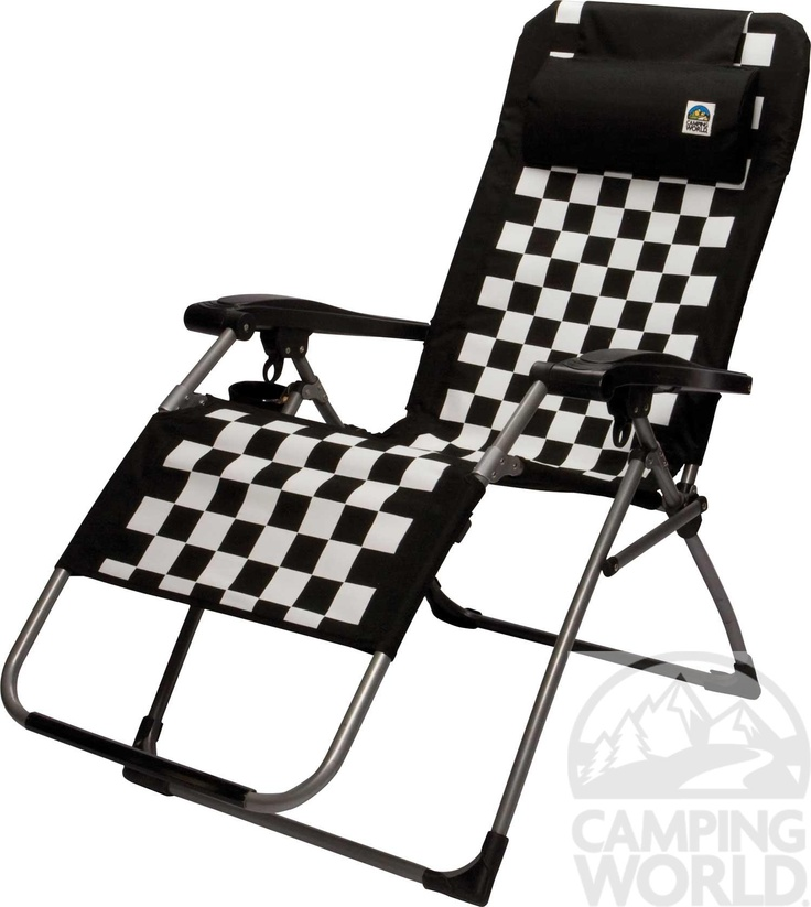 Checkered flag camping chair...perfect for tailgating at the Knoxville Raceway!