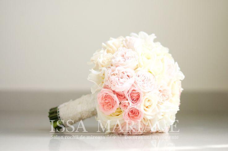 buchet nasa trandafiri roz pal