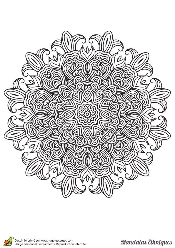 Ethnische Mandala Farben Fleur De Lys Hugolescargot Com Mandalas Ethnische Farben Fleur Hugolescargotco Coloriage Mandala Mandala Ethnique Mandala