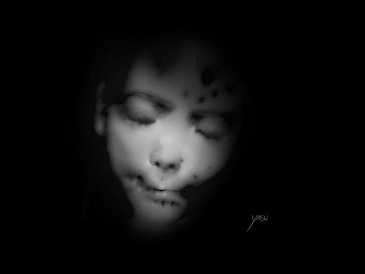 Baby_by yasu  https://yasu.artstation.com/yasu  #yasu #baby #face #concept #grayface