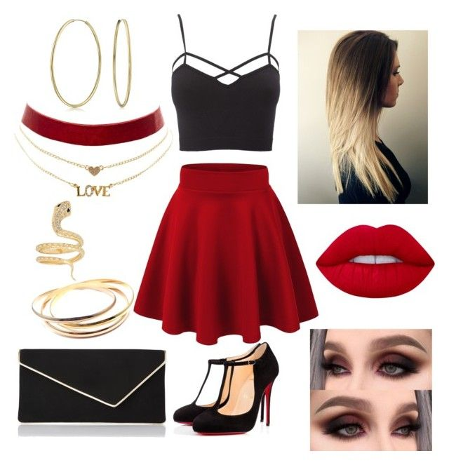 """""""Untitled #21"""" by kendragalea on Polyvore featuring Christian Louboutin, L.K.Bennett, Lime Crime, Bling Jewelry, Charlotte Russe, Cartier and plus size clothing"""