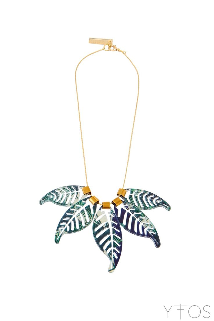 'Leaves' Tropical Printed Necklace