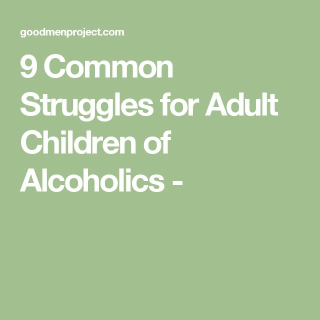 Recovery Barriers for Adult Children of Alcoholics -