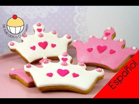 Cómo Hacer Galletas de Azúcar en Forma de Corona de Princesa - YouTube