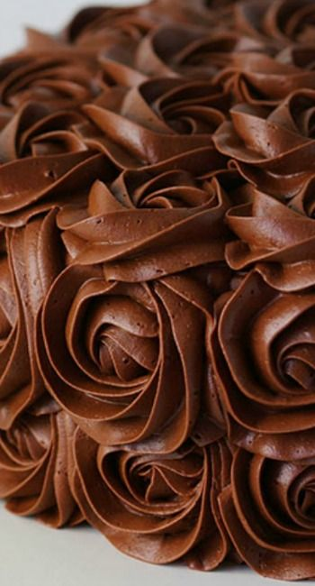 Chocolate:  Whipped #Chocolate Buttercream Frosting.