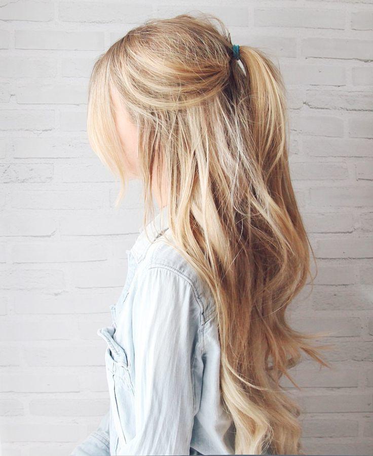 Frisuren für lange, blonde Haare1