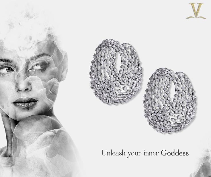 You are divine poetry, inspiration for all melodies; these graceful diamond earrings would be well suited for your inner Calliope.  #UnleashYourInnerGoddess.