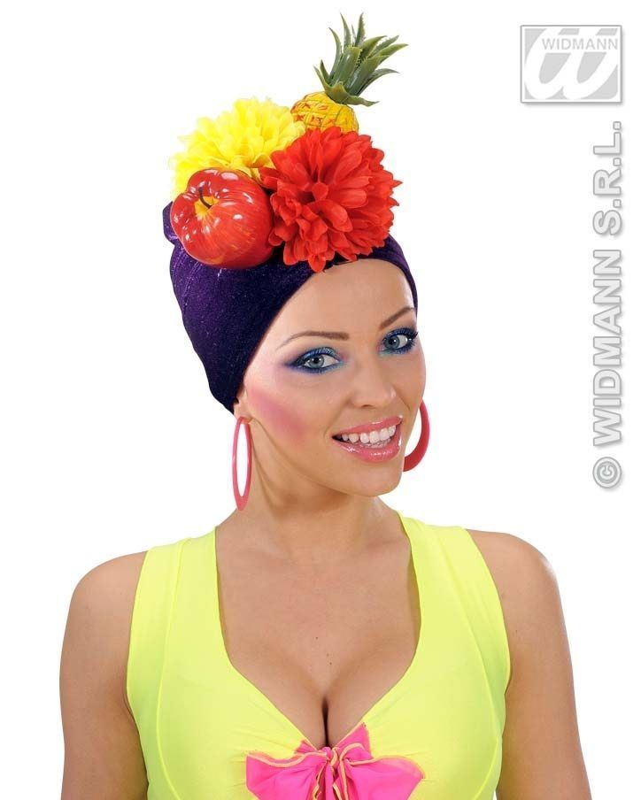 Womens Carmen Miranda Velvet Fruit Hat Turban Movie Fancy Dress Pineapple Floral  | eBay