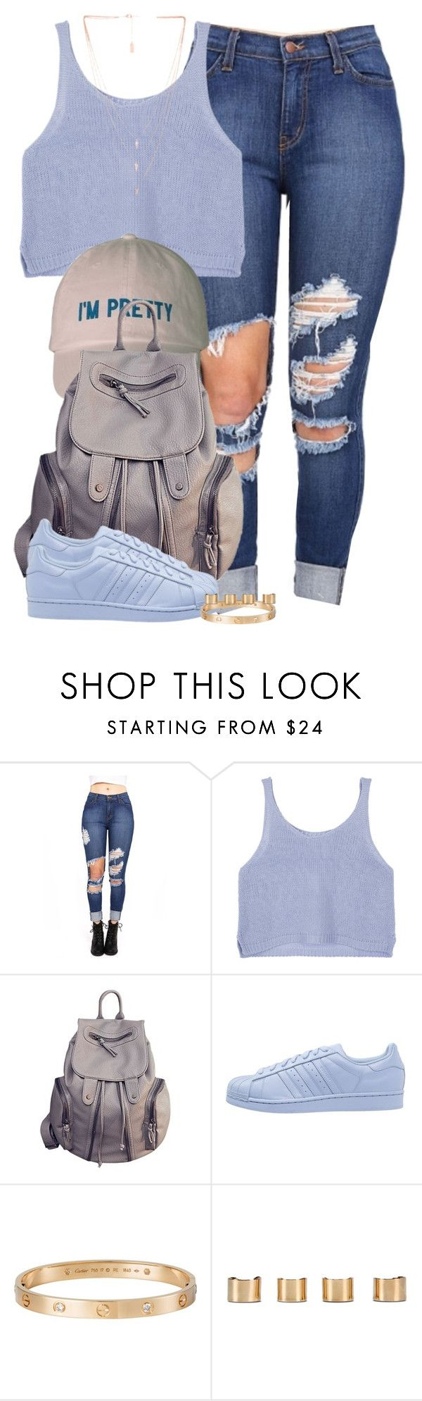 """""""I love you like XO."""" by cheerstostyle ❤ liked on Polyvore featuring adidas Originals, Cartier, Maison Margiela and Melanie Auld"""