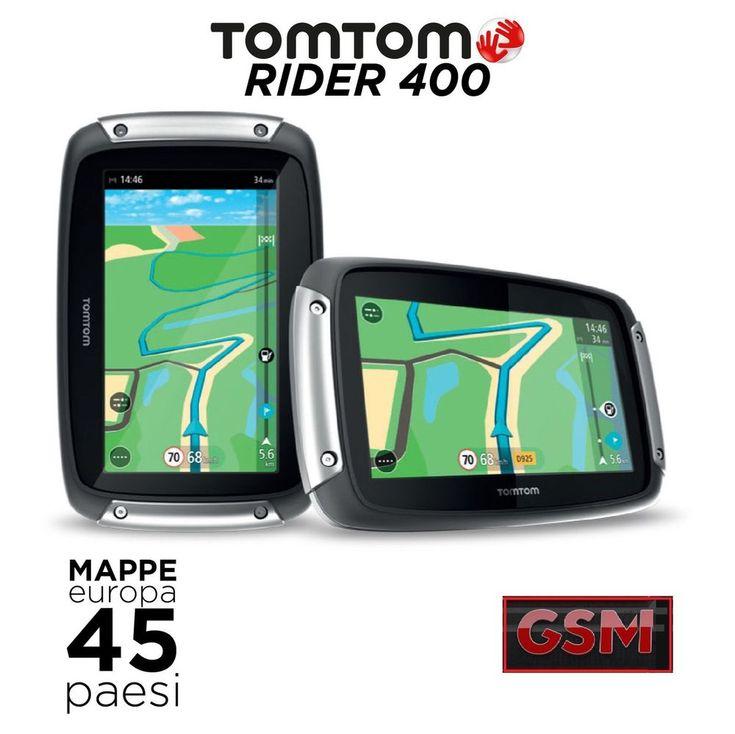 Nuovo TomTom RIDER 400 - Navigatore Satellitare GPS 2015 con bluetooth per moto