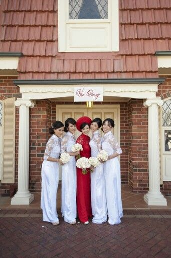 Our pretty wedding ao dai, My bridesmaids look absolutely beautiful!!