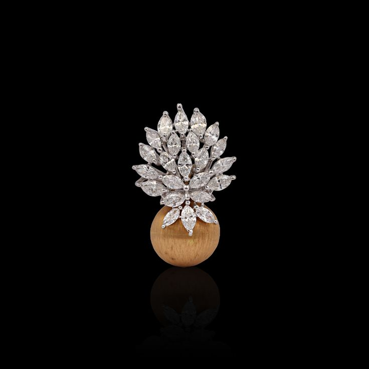 Diamond Studded Cluster Pendant