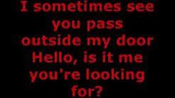 lionel richie hello lyrics - YouTube