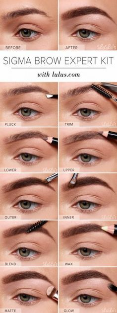 Cool DIY Makeup Hacks for Quick and Easy Beauty Ideas - Sigma Brow Expert Kit Eyebrow - How To Fix Broken Makeup, Tips and Tricks for Mascara and Eye Liner, Lipstick and Foundation Tutorials - Fast Do It Yourself Beauty Projects for Women http://diyjoy.com/makeup-hacks