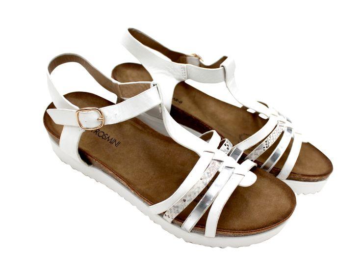 Sandalias planas White / Silver, encuéntralas en tiendas!