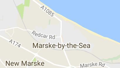 Map of Marske-by-the-Sea United Kingdom