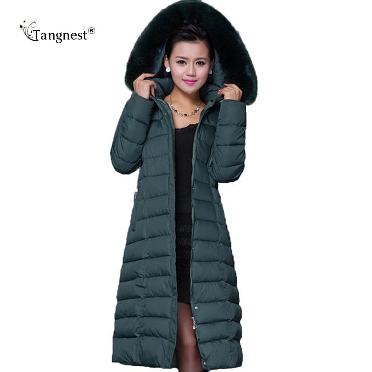 TANGNEST Maxi Winter Coat 2017 New Casual Plus Size Winter Jacket Coat Women Thick X-Long Cotton Parkas Casaco Feminino WWD122