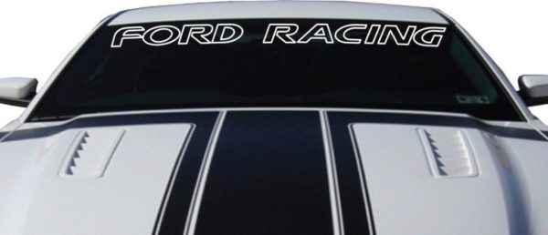 Ford Racing Windshield Banner Decal Sticker Outlined Custom