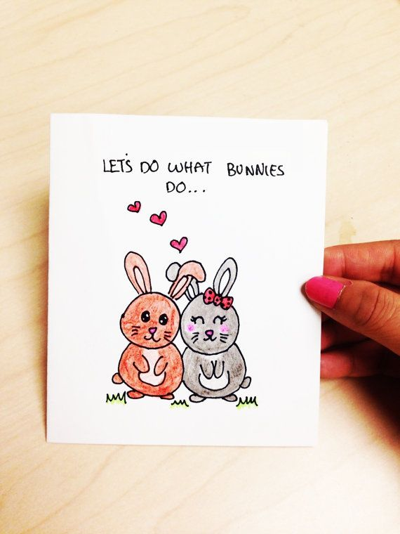 Let's do what bunnies do funny and cute card by LoveNCreativity