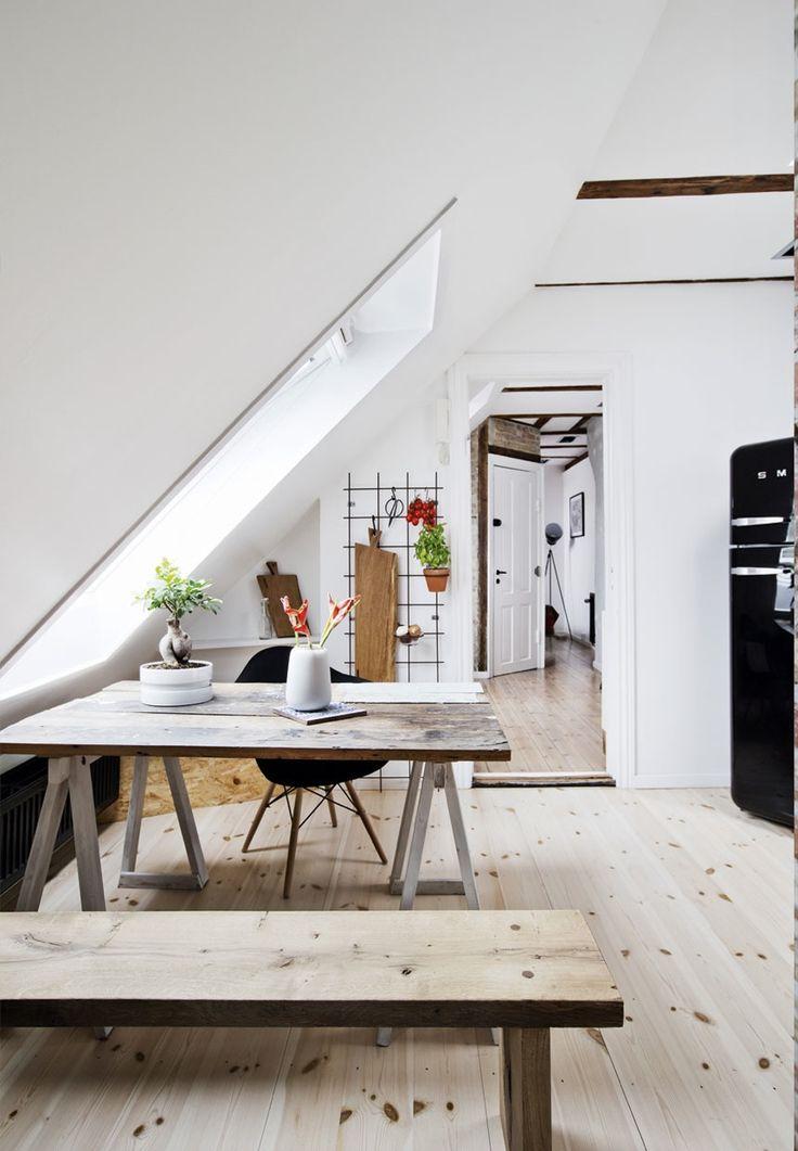 Lejlighed   Andelsbolig med rå mursten og genbrugstræ   Boligmagasinet.dk