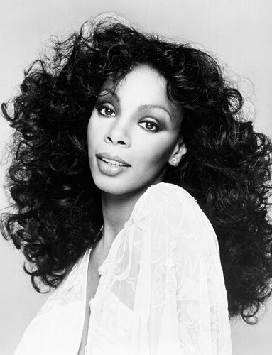 """Remembering #DonnaSummer: By 1976, Summer's """"Love to Love You Baby"""" had reached the number 2 spot on the US Billboard Hot 100 list. The singer celebrated the milestone with a new 'do—cascading feathered curls. http://news.instyle.com/2012/05/17/donna-summer/#"""