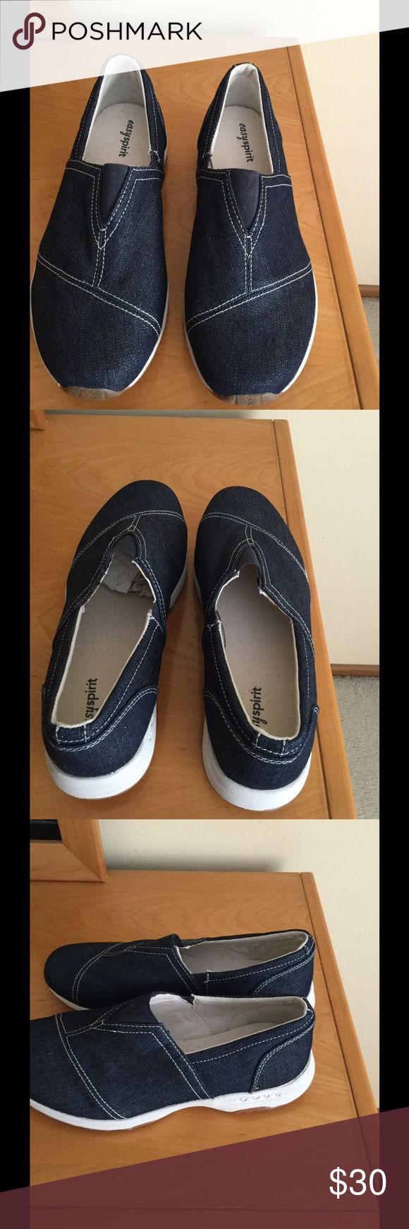 New Easy Spirit denim canvas slip on shoes . New with out box Easy Spirit canvas slip on shoes . Price firm !!! Easy Spirit Shoes Moccasins