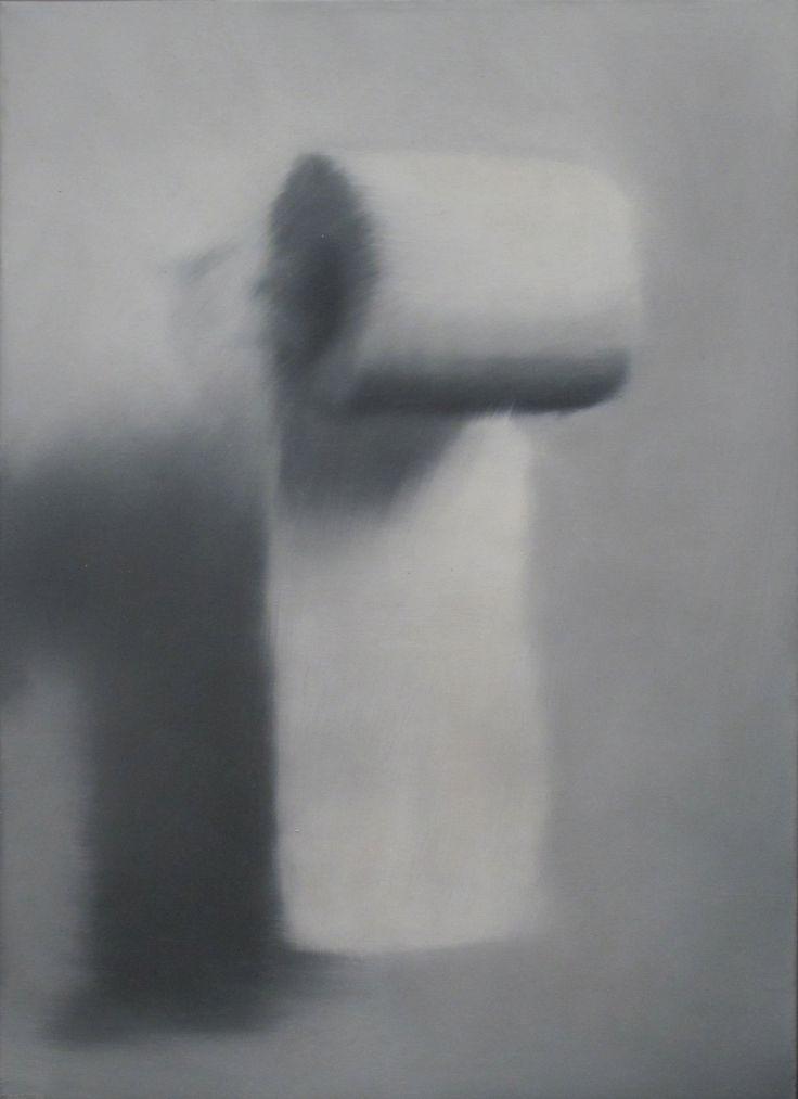 Gerhard Richter. Klorolle [Toilet Paper Roll] (CR 75-1), 1965. Oil on canvas, 55 x 40 cm