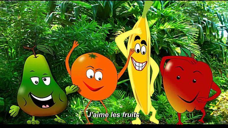 Chanson: J'aime les fruits - alain le lait (I like fruits)
